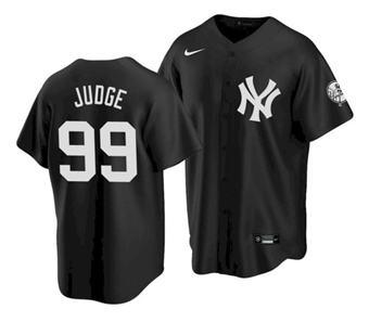 Men's New York Yankees #99 Aaron Judge 2021 Black Cool Base Stitched Baseball Jersey