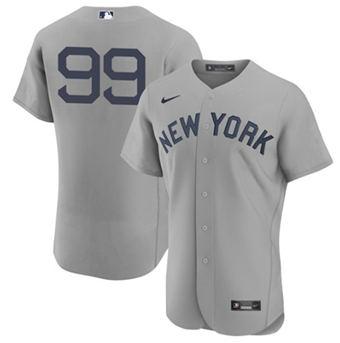 Men's New York Yankees #99 Aaron Judge 2021 Gray Field Of Dreams Flex Base Stitched Baseball Jersey