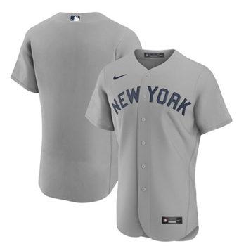 Men's New York Yankees Blank 2021 Gray Field of Dreams Flex Base Stitched Baseball Jersey