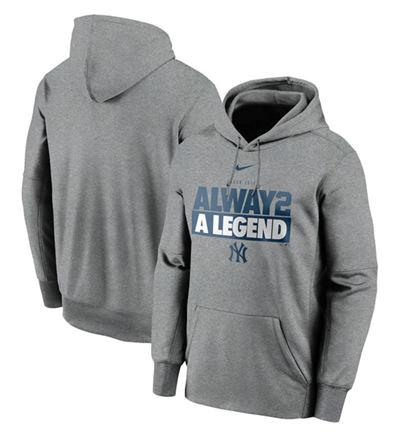 Men's New York Yankees Gray 2020 Pullover Baseball Hoodie