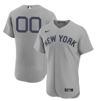 Men's New York Yankees Grey ACTIVE PLAYER Custom 2021 Gray Field of Dreams Flex Base Stitched Baseball Jersey
