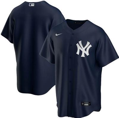 Men's New York Yankees Navy Cool Base Stitched Baseball Jersey