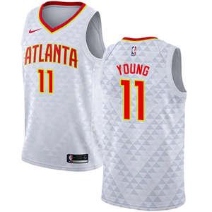 Men's  Atlanta Hawks #11 Trae Young White Basketball Swingman Association Edition Jersey