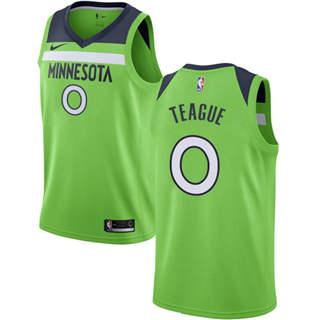 Men's  Minnesota Timberwolves #0 Jeff Teague Green Basketball Swingman Statement Edition Jersey
