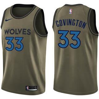 Men's  Minnesota Timberwolves #33 Robert Covington Green Basketball Swingman Salute to Service Jersey