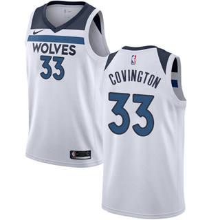 Men's  Minnesota Timberwolves #33 Robert Covington White Basketball Swingman Association Edition Jersey