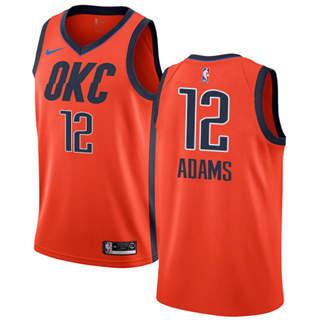 Men's  Oklahoma City Thunder #12 Steven Adams Orange Basketball Swingman Earned Edition Jersey