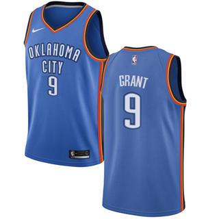 Men's  Oklahoma City Thunder #9 Jerami Grant Blue Basketball Swingman Icon Edition Jersey