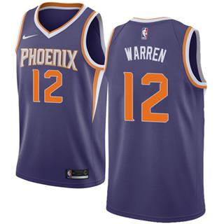 Men's  Phoenix Suns #12 T.J. Warren Purple Basketball Swingman Icon Edition Jersey