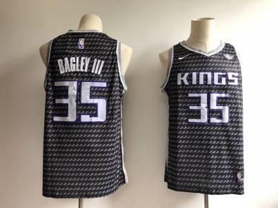 Men's  Sacramento Kings #35 Marvin Bagley III Black Basketball Swingman Statement Edition Jersey