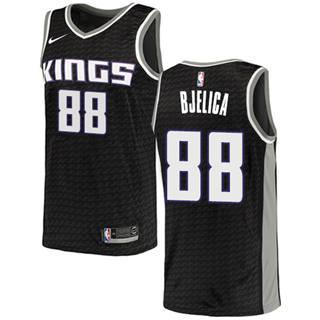 Men's  Sacramento Kings #88 Nemanja Bjelica Black Basketball Swingman Statement Edition Jersey