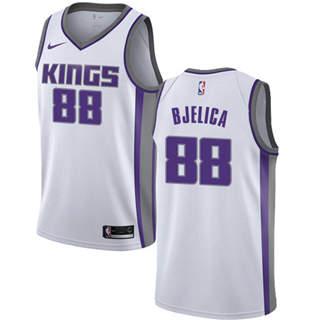 Men's  Sacramento Kings #88 Nemanja Bjelica White Basketball Swingman Association Edition Jersey