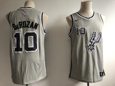 Men's  San Antonio Spurs #10 DeMar DeRozan Silver Basketball Swingman Statement Edition Jersey