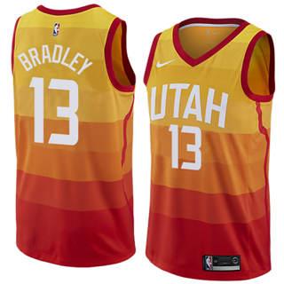 Men's  Utah Jazz #13 Tony Bradley Orange 2018-19 Swingman Basketball New City Edition Jersey