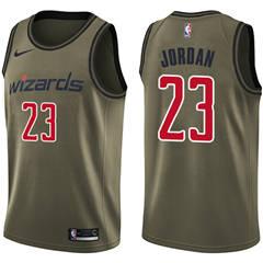 Men's  Washington Wizards #23 Michael Jordan Green Salute to Service Basketball Swingman Jersey
