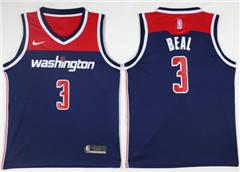 Men's  Washington Wizards #3 Bradley Beal Navy Blue Basketball Swingman Statement Edition Jersey