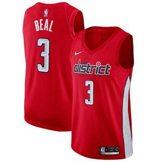 Men's  Washington Wizards #3 Bradley Beal Red Basketball Swingman Earned Edition Jersey