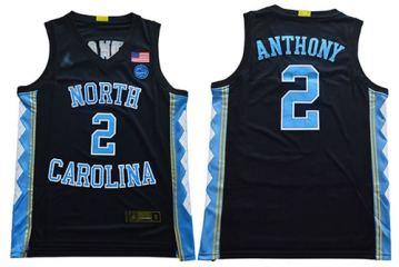 Men's North Carolina #2 Cole Anthony Black Stitched College Basketball Jersey