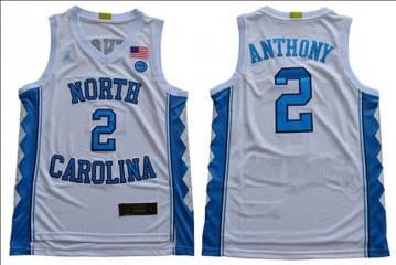 Men's North Carolina #2 Cole Anthony White Stitched College Basketball Jersey