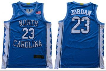 Men's North Carolina #23 Michael Jordan Blue Stitched College Basketball Jersey
