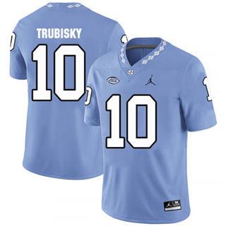 Men's North Carolina Tar Heels #10 Mitchell Trubisky Blue College Football Jersey