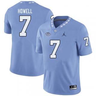 Men's North Carolina Tar Heels #7 Sam Howell Blue NCAA 2019-2020 Jersey