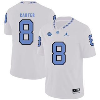 Men's North Carolina Tar Heels #8 Michael Carter NCAA Basketball Jersey White