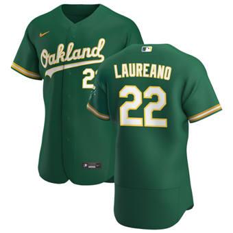 Men's Oakland Athletics #22 Ramon Laureano Kelly Green Alternate 2020 Authentic Player Baseball Jersey