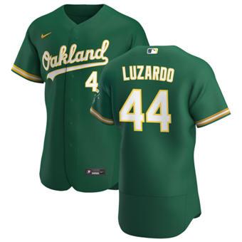 Men's Oakland Athletics #44 Jesus Luzardo Kelly Green Alternate 2020 Authentic Player Baseball Jersey