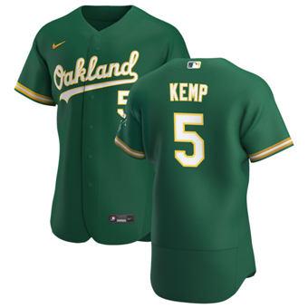 Men's Oakland Athletics #5 Tony Kemp Kelly Green Alternate 2020 Authentic Player Baseball Jersey