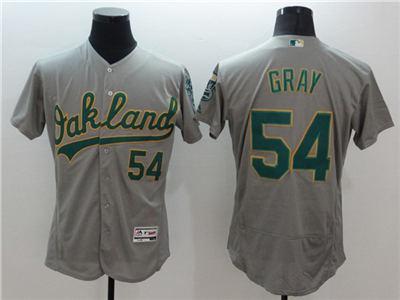Men's Oakland Athletics #54 Sonny Gray Grey Flex Base Stitched Baseball Jersey