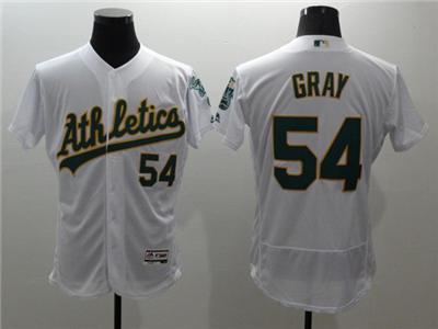 Men's Oakland Athletics #54 Sonny Gray White Flex Base Stitched Baseball Jersey