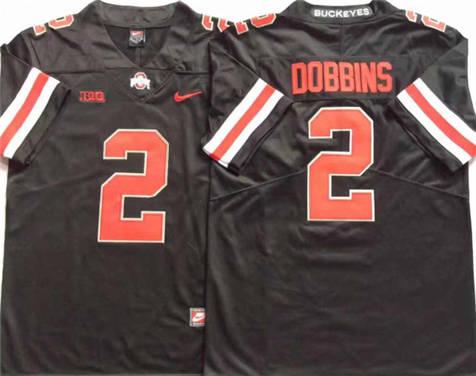 Men's Ohio State Buckeyes Black #2 DOBBINS Stitched College Football Jersey 2