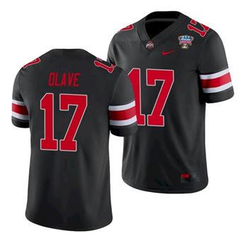 Men's Ohio State Buckeyes Chris Olave 2021 Sugar Bowl Black Football Jersey