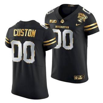 Men's Ohio State Buckeyes Custom 2021 Sugar Bowl Jersey Football Black Gold