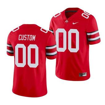 Men's Ohio State Buckeyes Custom Scarlet College Football Game Jersey