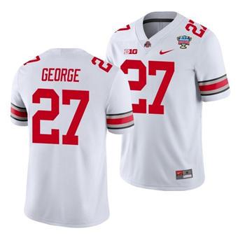 Men's Ohio State Buckeyes Eddie George 2021 Sugar Bowl White Football Jersey