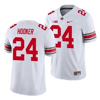 Men's Ohio State Buckeyes Malik Hooker 2021 Sugar Bowl White Football Jersey