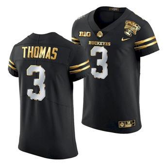 Men's Ohio State Buckeyes Michael Thomas 2021 Sugar Bowl Jersey Black Gold