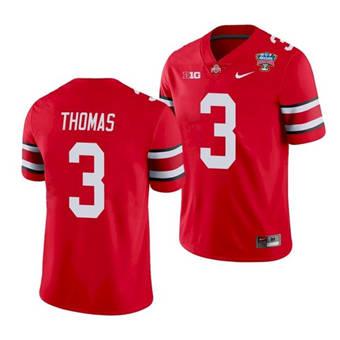 Men's Ohio State Buckeyes Michael Thomas 2021 Sugar Bowl Scarlet Jersey