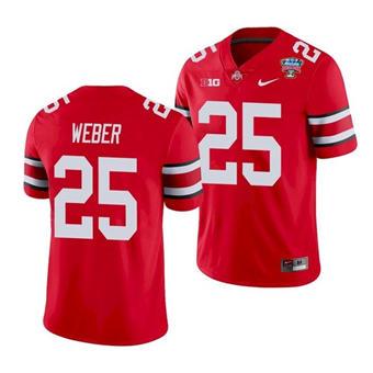 Men's Ohio State Buckeyes Mike Weber 2021 Sugar Bowl Scarlet Football Jersey