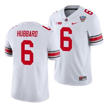 Men's Ohio State Buckeyes Sam Hubbard 2021 Sugar Bowl White Football Jersey