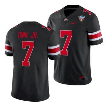 Men's Ohio State Buckeyes Ted Ginn Jr. 2021 Sugar Bowl Black Football Jersey
