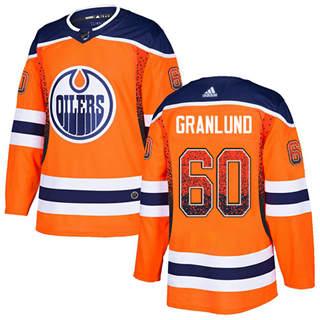 Men's Oilers #60 Markus Granlund Orange Home Authentic Drift Fashion Stitched Hockey Jersey