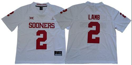 Men's Oklahoma Sooners #2 CeeDee Lamb White Jordan Brand Limited Stitched College Jersey