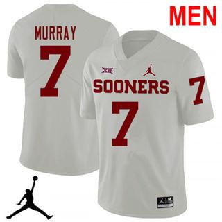 Men's Oklahoma Sooners #7 DeMarco Murray White NCAA Football Jersey