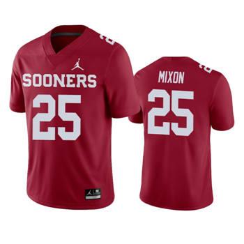 Men's Oklahoma Sooners Crimson Joe Mixon College Football Jersey