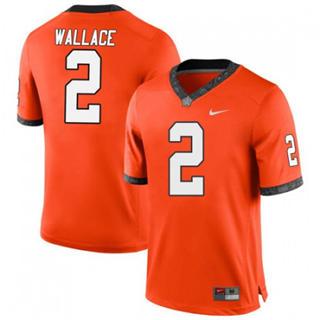 Men's Oklahoma State Cowboys #2 Tylan Wallace Orange 2019 College Football Jersey