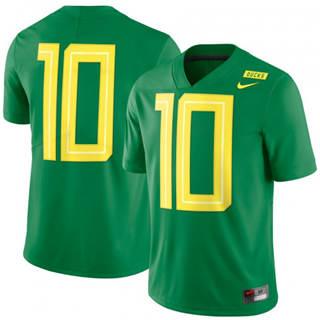 Men's Oregon Ducks #10 Mighty Oregon Limited Football Jersey Green