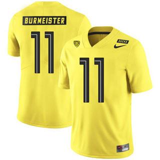 Men's Oregon Ducks #11 Braxton Burmeister NCAA Football Jersey Yellow